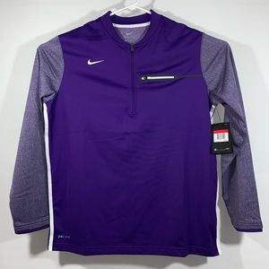 NWT Nike Dri-Fit 1/2 Zip Purple Jacket Size: Large